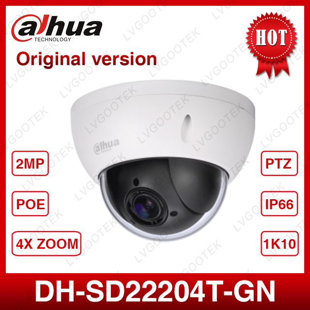 Dahua SD22204T GN CCTV IP camera 2 Megapixel Full HD Network Mini PTZ Dome 4x optical zoom POE Camera SD22404T GN with logo