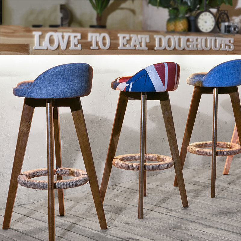 Tremendous Us 85 54 20 Off New Modern Design Solid Wood Or Plastic And Metal Bar Stool Stylish Design Counter Stool Nice Colorful Solid Wood Bar Chair In Bar Beatyapartments Chair Design Images Beatyapartmentscom