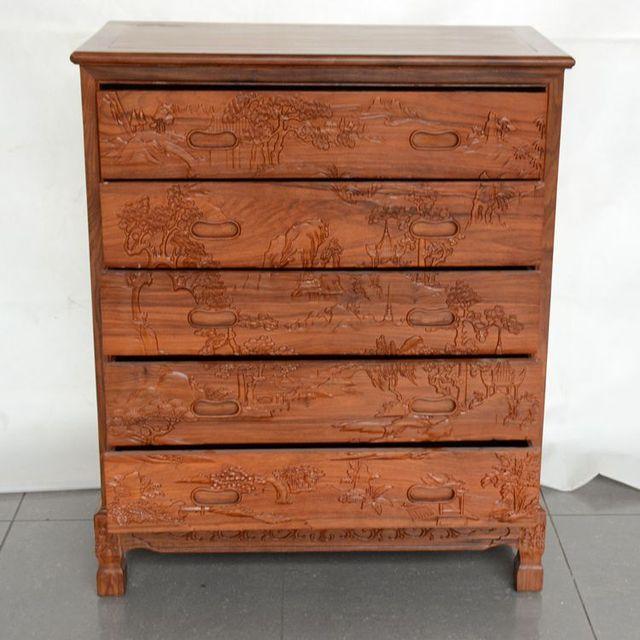 mahonie meubelen mahonie commode palissander chinese gesneden hout lockers slaapkamer commode kasten