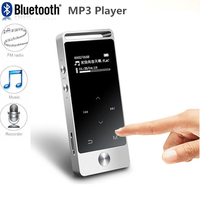 Hots! Portable Mini MP3 Player 8GB Touch Screen Hi Fi Lossless Music MP3 Player with FM Radio Support TF Card Pockets Recording