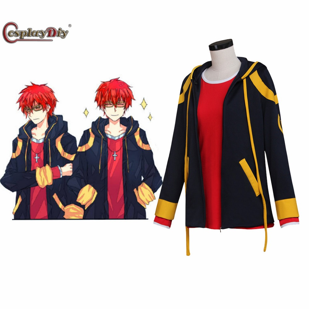 Cosplaydiy Game Mystic Messenger 707 Cosplay Costume Unisex Halloween Costumes T shirt+Jacket Custom Made J10