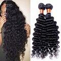 7A Brazilian Virgin Hair Deep Wave 4 Bundles Cheap Human Hair 100g/Bundle Brazilian Deep Curly Virgin Hair Siyo Virgin Hair