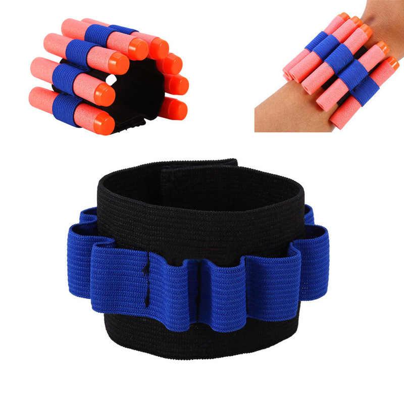 HIRIGIN 1ชิ้นแขนแขนC Arrierกระสุนสำหรับการป้องกันเล่นสวมยุทธวิธีข้อมือเด็กของเล่นกระสุนโฟมสำหรับNerf