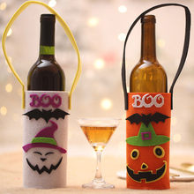 807365290a97 Halloween Party Wine Bottle Covers Bag Halloween Festival Home Party Dinner Decor  Wine Bottle Covers White Orange