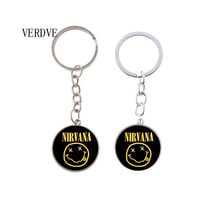 Band Rock nirvana band kristal kaca liontin keychain perhiasan hadiah grosir(China)