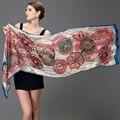 Cetim de seda lenço de seda feminina de seda projeto longa capa