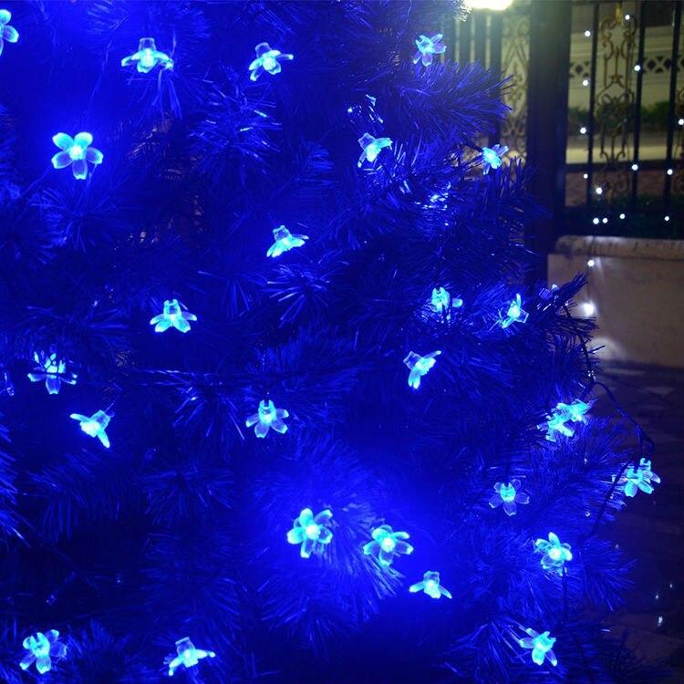 7 MT 50 leds Pfirsich Blume Solar Außenleuchte LED Garten super ...
