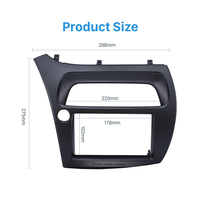 Seicane Professional 2Din Car Radio Fascia Cover Trim for 2005 Honda Civic European LHD Trim Install Frame Dash Kit Auto Stereo