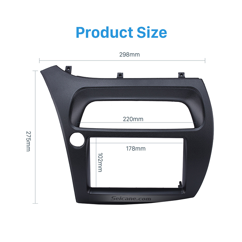 Seicane professionnel 2Din voiture Radio Fascia couverture garniture pour 2005 Honda Civic européenne LHD garniture installer cadre tableau de bord Kit Auto stéréo