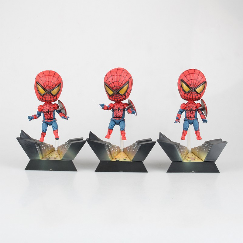 Spider-man Spiderman Homecoming Figure Juguetes Anime PVC Action Figure Collectible Brinquedos Model Doll Kids Toys 10cm spider man japanese anime lovely swing doll cute black panther mobile phone holder shaking head action