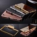 Роскошный Алюминиевый для Sony M4 aqua Frame Mirror Case С Жесткого ПК задняя Металлическая Крышка Коке Capinha Capa Funda Для sony Z3 Z4 M4