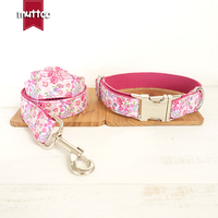 10pcs Lot MUTTCO Retailing Particular Colorful Dog Collar THE PINK FLOWER Unique Style Print Dog Collars