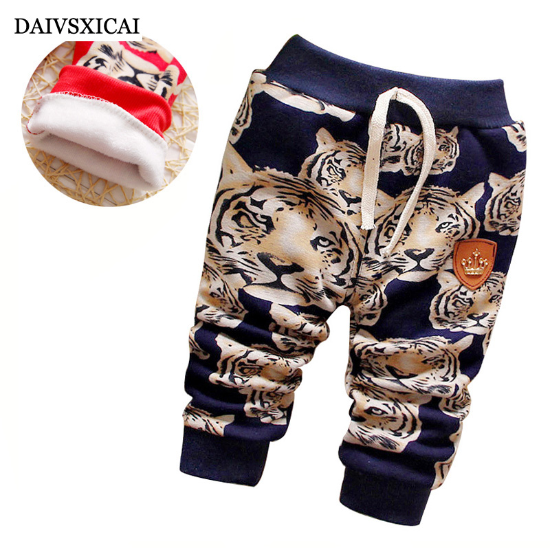 Daivsxicai Winter Baby Pants Fashion Warm Fleece Pants Baby Casual Children's Pants Cute Thicken Boys Kids Pants For Girl 0-2T