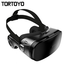 G300 VR Glasses Virtual Reality Head Mount VR Glasses Box Case 3D Movies Games Helmet with HIFI Stereo Headphone for iPhone 5-6″