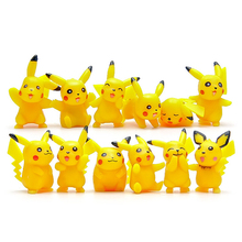 12pcs/lot Pikachu Toys Pikachu Cute Figures PVC Action Figure Toys Doll Collection Model Toy for Children Christmas Toys Gifts
