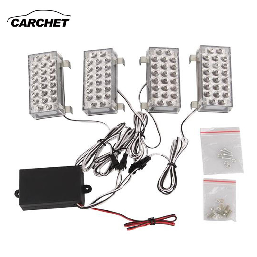 CARCHET Universal Amber 88 LED Strobe Light Emergency Warning Flashing Lights 3 Model Fog Lamp For Car Vehicle Truck Car Styling