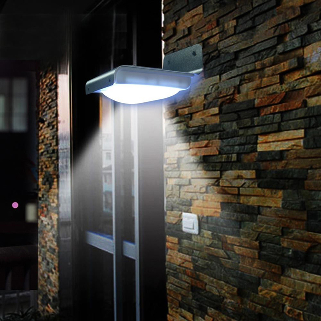 16 LED Solar Power Motion Sensor Garden Security Lamp Outdoor ...