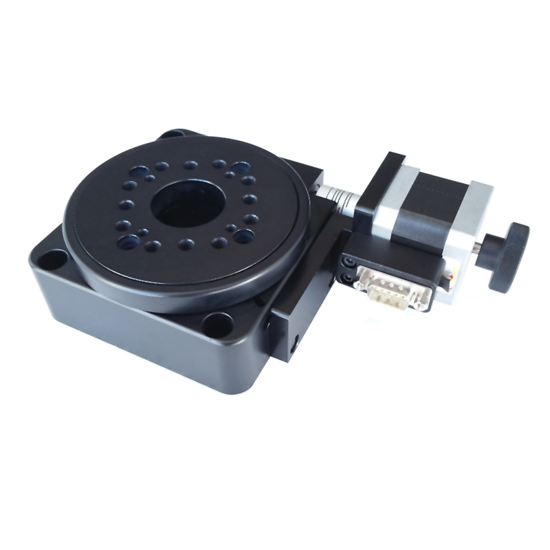 PT-GD201 Electric Rotary Stage,Rotating Machine, Electric Rotating Platform, Motorized Rotation Stage, diameter: 100mm pt xy15 motorized microscope stage motorized linear stage electric xy integral combinating platform 15mm travel linear table