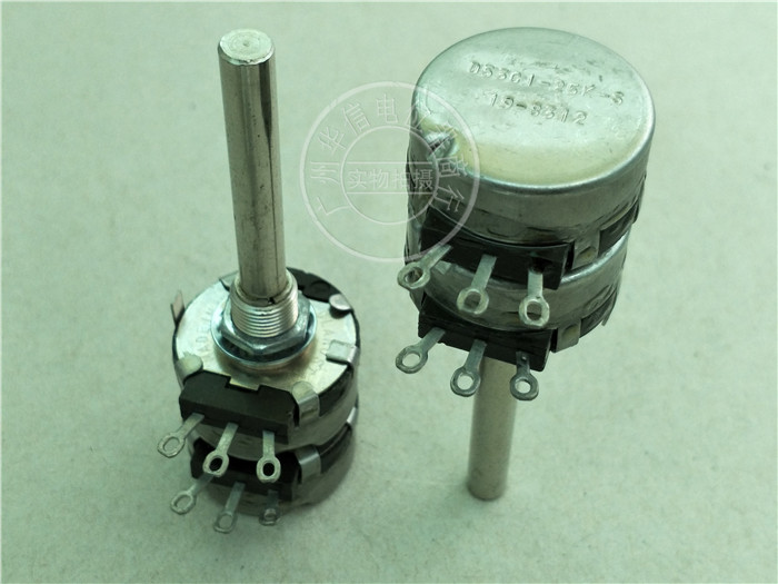 Original new 100% United States import D5301 dual potentiometer 25K handle long 50MM round shaft D5301-25K-S (SWITCH) dimarzio custom taper potentiometer 500k long shaft ep1201l