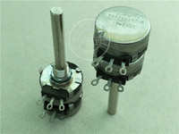 Original new 100% United States import D5301 dual potentiometer 25K handle long 50MM round shaft D5301 25K S (SWITCH)