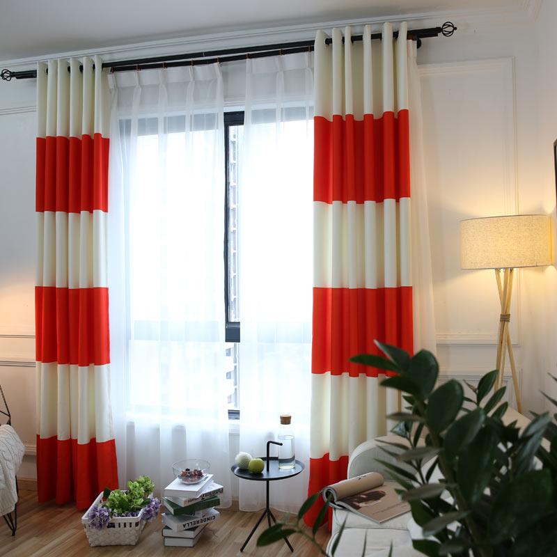 Online Get Cheap Orange White Curtains