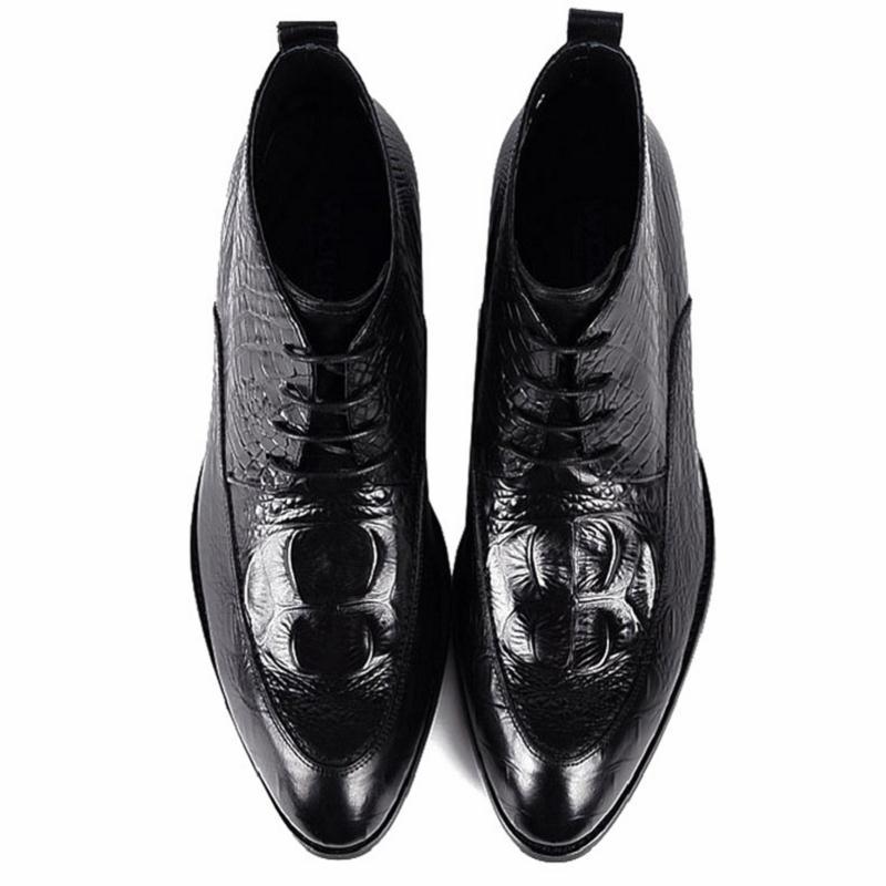 Tinto Masculina Genuino vino Casuales Botas Hombre Mycoron Acogedor Lujo Vestido Encaje Zapatos De Cuero Transpirables Moda Formal Bota Negro Z0wUAAq