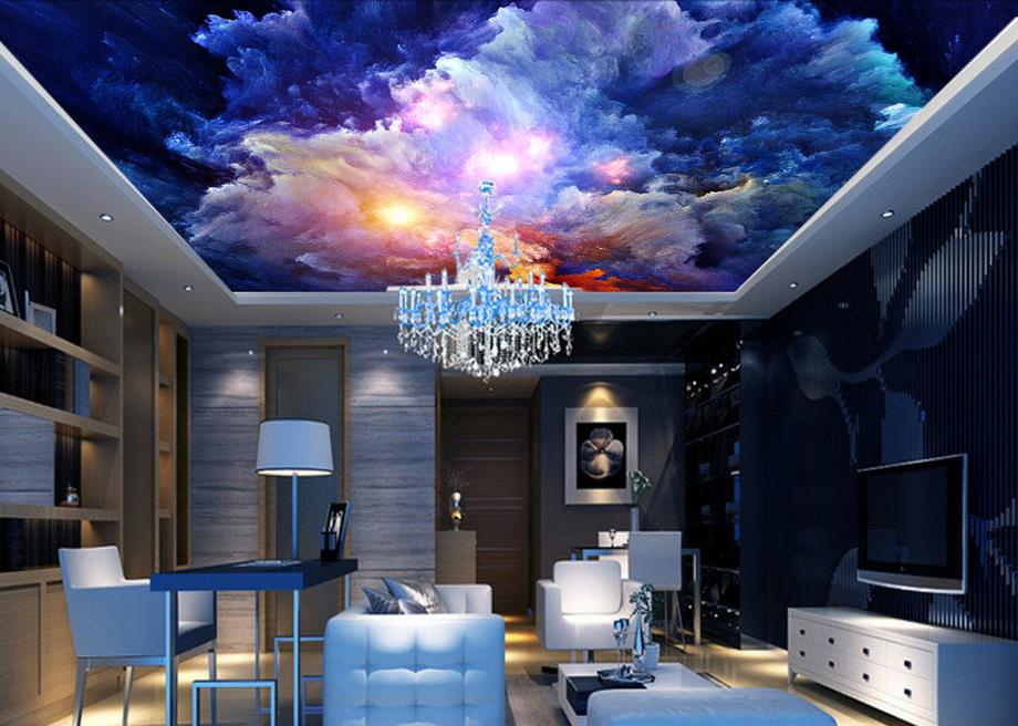 Wall entertainment promotion shop for promotional wall for 3d ceiling paper