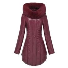 Genuine leather female medium-long down coat leather clothing 2013 hooded fox fur genuine leather clothing