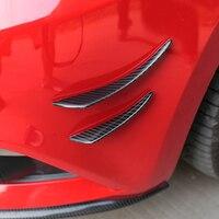 QHCP רכב שונה אוניברסלי קטן רוח סגור סכין פחמן סיבי עבור פורד מוסטנג להגן על רכב סטיילינג קישוט משלוח חינם-במידול לסטיילינג מתוך רכבים ואופנועים באתר