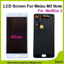 1pcs white color 5 5inch High quality new LCD screen display Touch Digitizer without frame For