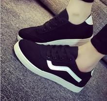 fall and winter of 2016 new fashions for women's shoes is comfortable white cloth shoes pure color lazy shoes low canvas shoes