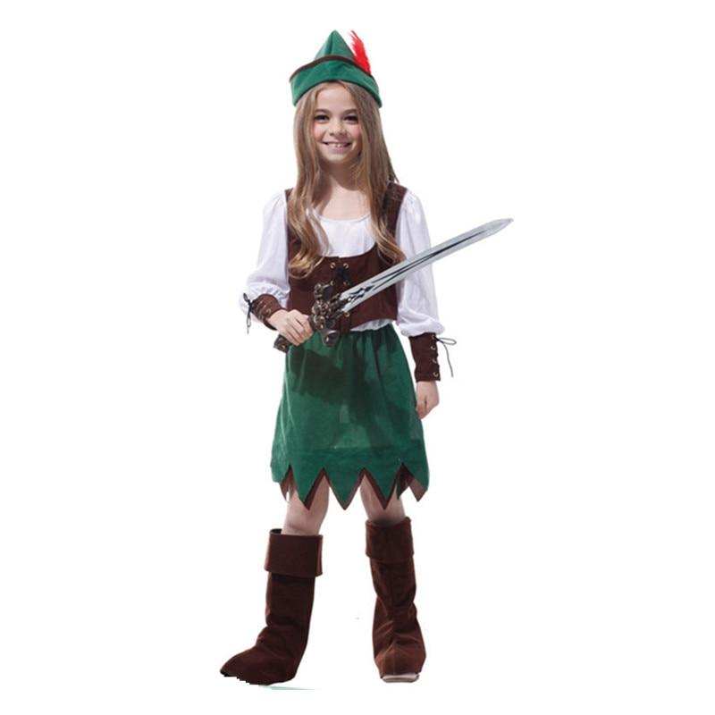 Ny tjej Halloween cos barns prestation vuxna barn Peter Pan Forest - Maskeradkläder och utklädnad
