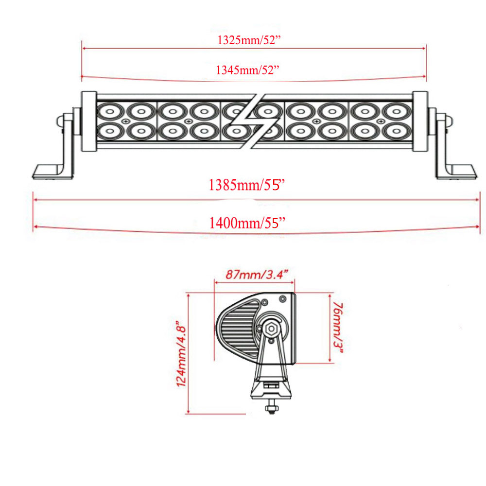 Curving Led Wiring Diagram For Use Schematic Diagrams Halo Lights 52 Curved Light Bar Cree Oslamp New 22 32 42 50 Flasher