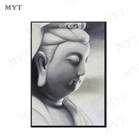 MYT The Realistic Female Buddha Statue Is Painted By Hand Decorations Living Room Decoration Wall Artwork Canvas Oil Paintings