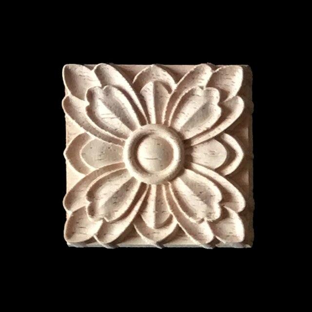 10PCS Wood Carving Applique Home Decor Furniture Decoration Cabinet Door Solid Crafts Flowers Carve Pattern