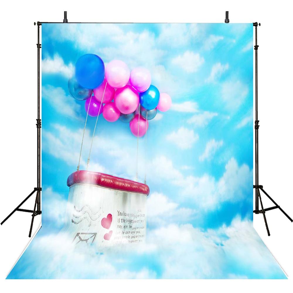 200*300cm blue sky scenic wedding photography studio backdrop digital printed balloons background fondos de estudio fotografia blue sky чаша северный олень