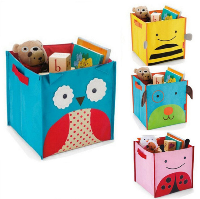 Juguetes animales coloridos organizador plegable oxford tela caja de ...