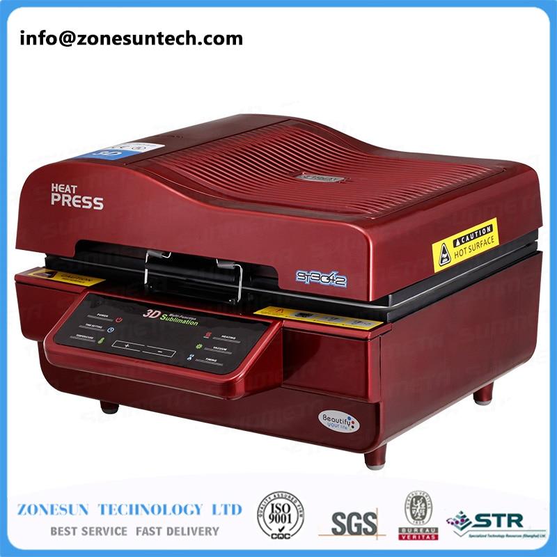 ZONESUN Printer For Fabric Logo Printing Machine Phone Case Printing Machine with mini sealing machine