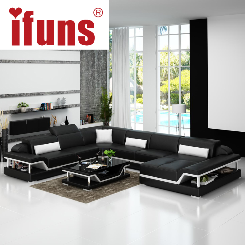 Diamond Modern White Leather U Shaped Sectional Sofa W: Online Buy Wholesale Modern U Shaped Sectional From China