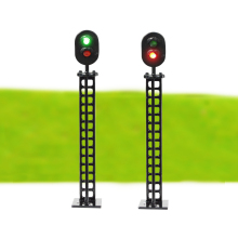 traffic signal light HO scale  Model Railway & Building Layout traffic signal LED  lights 12V Led Model traffic lights toy 24cm road signs children model scene simulation teaching child traffic light signal lamp toy live voice