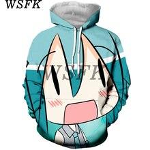 WSFK anime 3D printing hoodies men and women street casual sports shirt hooded fashion apparel
