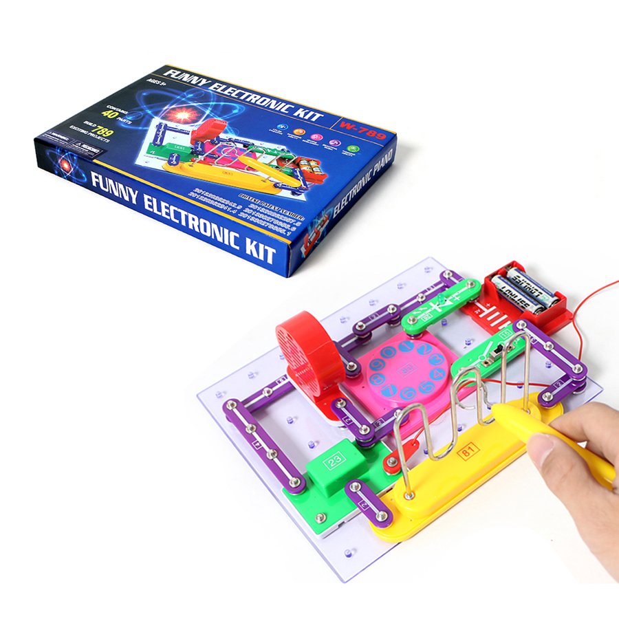 789 Projects Circuit Electronic Building Blocks Physics Science Smart Educational Toy For Children Discovery Kit Funny DIY toy