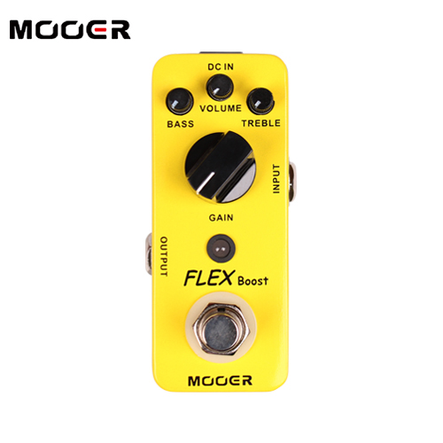 MOOER Flex Boost Pedal /Full metal shell True bypass Guitar effect pedal mooer flex boost guitar effect pedal mini electric effects true bypass with free connector and footswitch topper