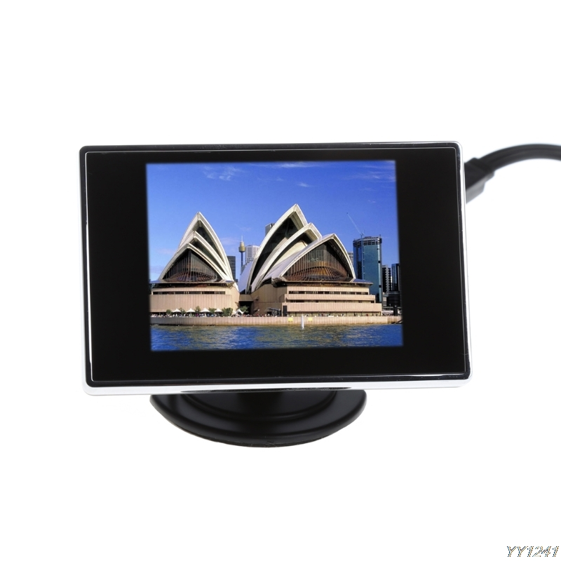2018 new arrival Universal High Quality 3.5 TFT LCD Color Monitor Screen DVD VCD For Car Rear View Backup Camera Car Styling
