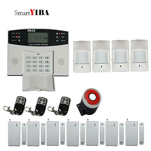 SmartYIBA Smart House Alarm System Wireless Home Security System Support 2G SIM Card GSM Alarm System Voice Prompt French Czech