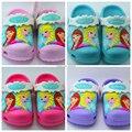 Эльза, анна, тапочки, обувь для Девочек, 2016, дети девушка тапочки, детские сандалии, детские девушка 3D мультфильм сандалии