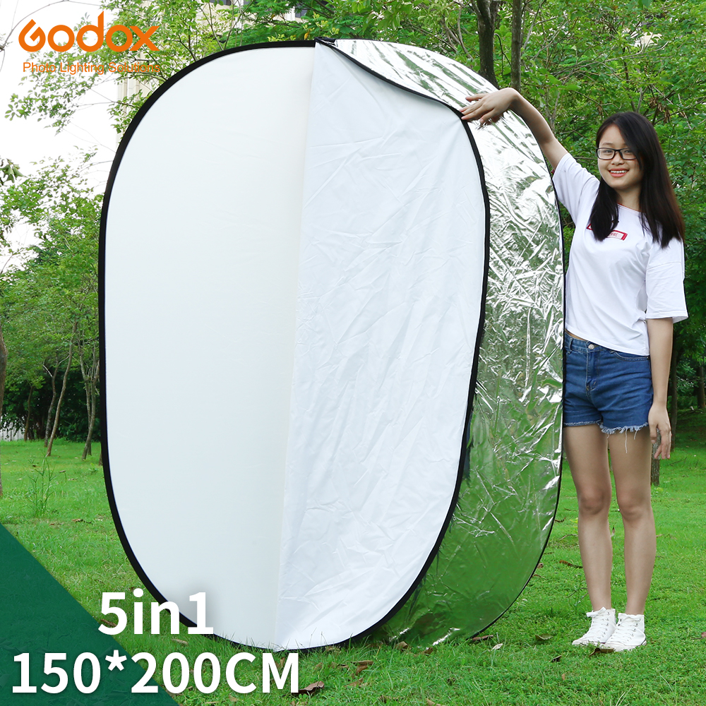 GODOX 59 x79 150 x 200cm 5 in 1 Portable Collapsible Light Round Photography Reflector for