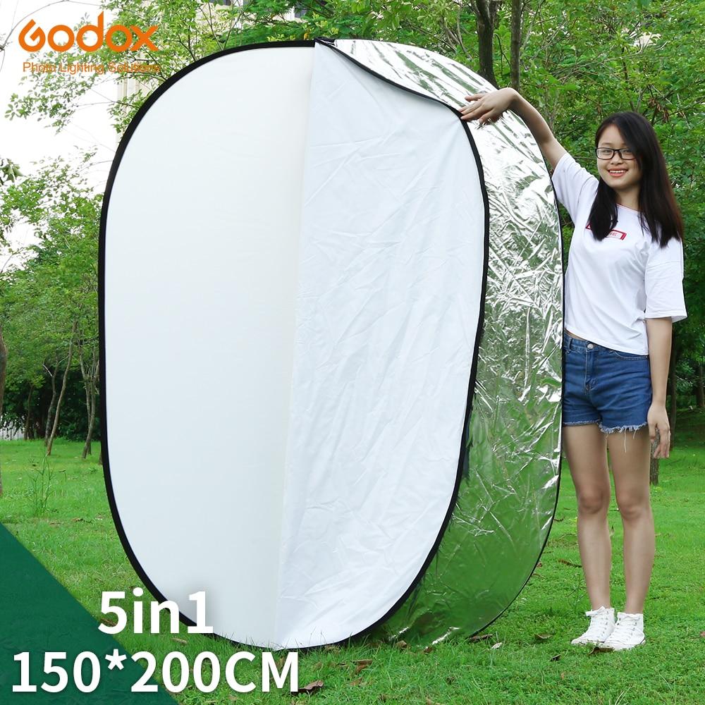 Круглый складной светильник GODOX для фотостудии, портативный складной светильник 5 в 1, 59x79 дюймов, 150x200 см