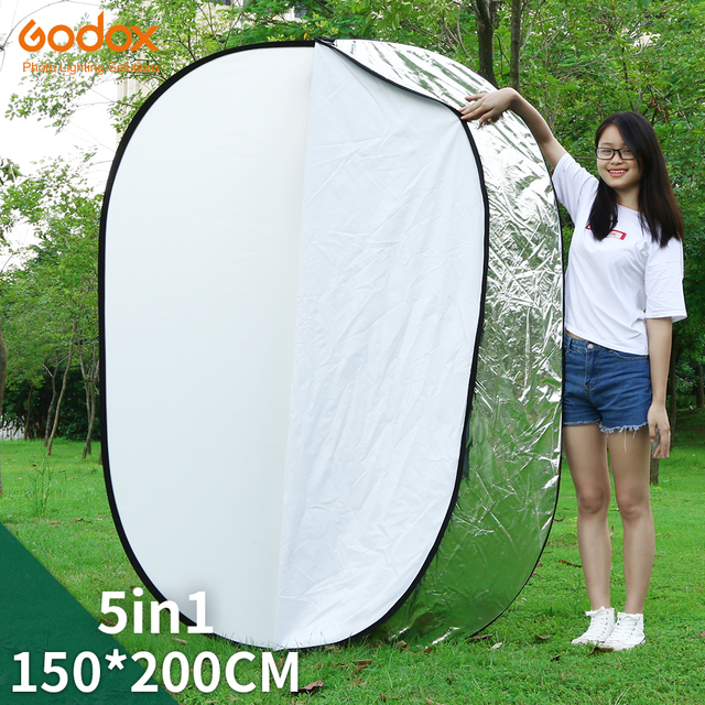 """GODOX 59""""x79"""" 150 x 200cm 5 in 1  Portable Collapsible Light Round Photography Reflector for Studio"""