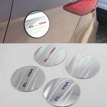 Car Accessories Exterior Decoration ABS Chrome Oil Fuel Gas Tank Cap Cover For Hyundai Elantra 2018 Car-styling